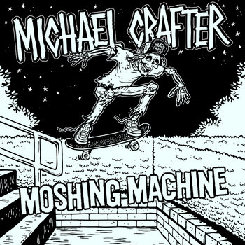"Michael Crafter // Clowns split 7"" cover art"