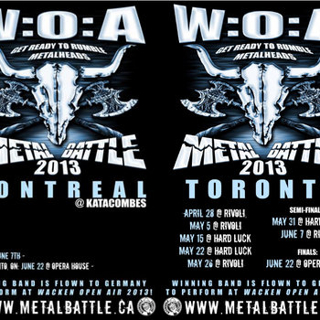 Wacken Metal Battle Canada Compilation Vol. 1 cover art