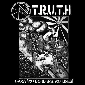 "(A)TRUTH / All Torn Up! 7""split cover art"