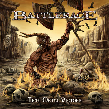 "BATTLERAGE ""True Metal Victory"" cover art"