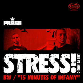 Stress b/w 15 Minutes of Infamy cover art