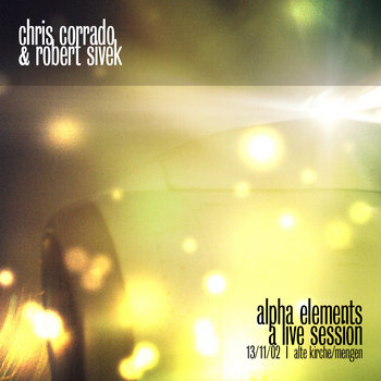 alpha elements - a live session cover art