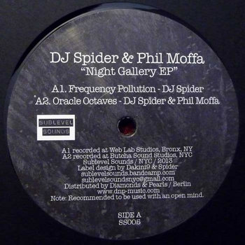 Night Gallery EP - DJ Spider &amp; Phil Moffa (Vinyl Only) cover art