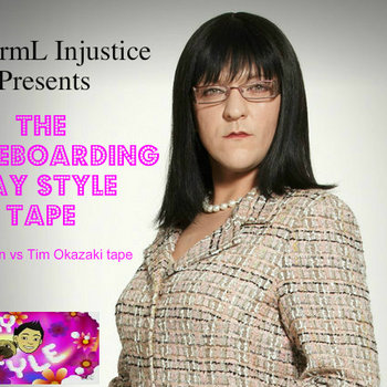 Abnorml Injustice Presents-the Skakeboarding gay style tape...or Jen vs Tim Okazaki tape-(2012) cover art