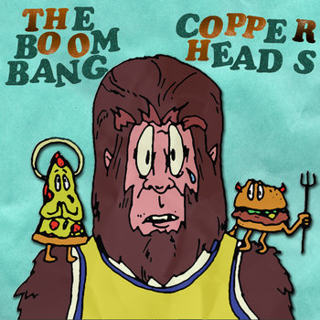 The Boom Bang/Copperheads - split 7&quot; cover art