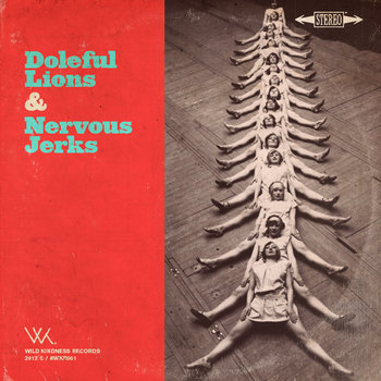 Nervous Jerks / Doleful Lions Split Lathe-cut 8&quot; cover art