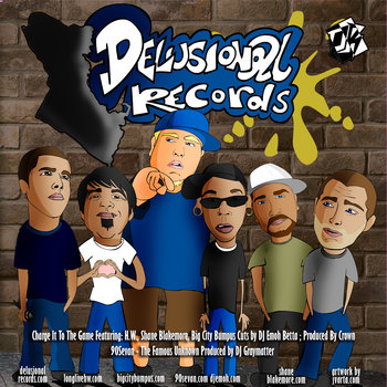 Delusional Records 7 Inch cover art