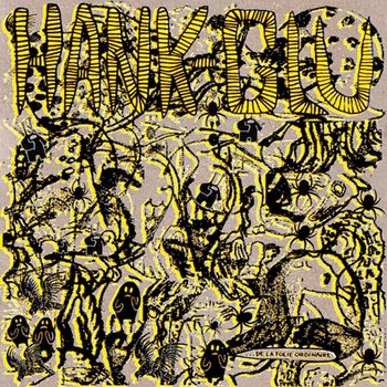 "Hank / Glu ""De la folie ordinaire"" split LP cover art"