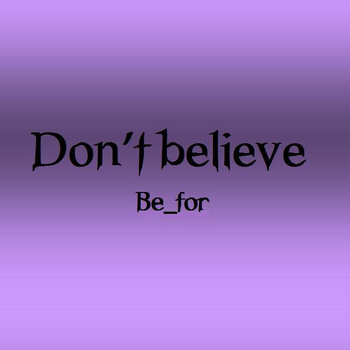 Don't believe cover art