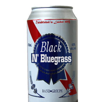 Open up a can of Black N' Bluegrass cover art